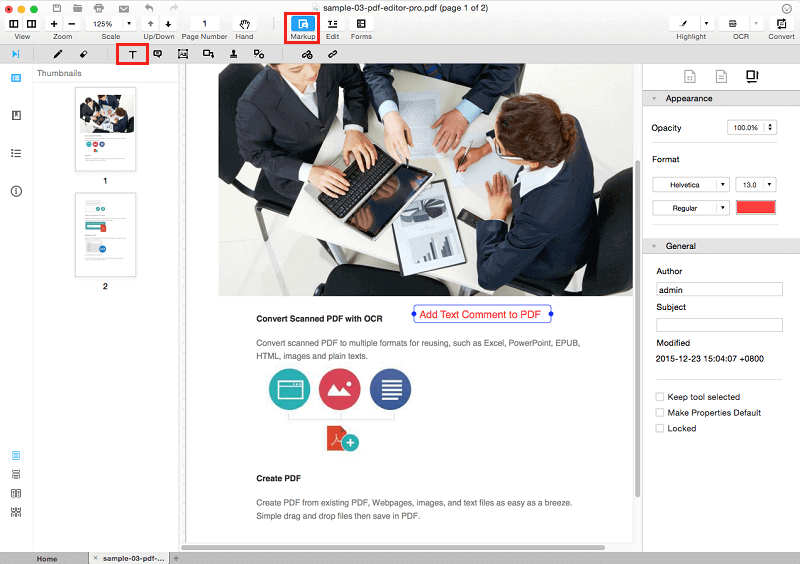 How to Add Text Comment in PDF