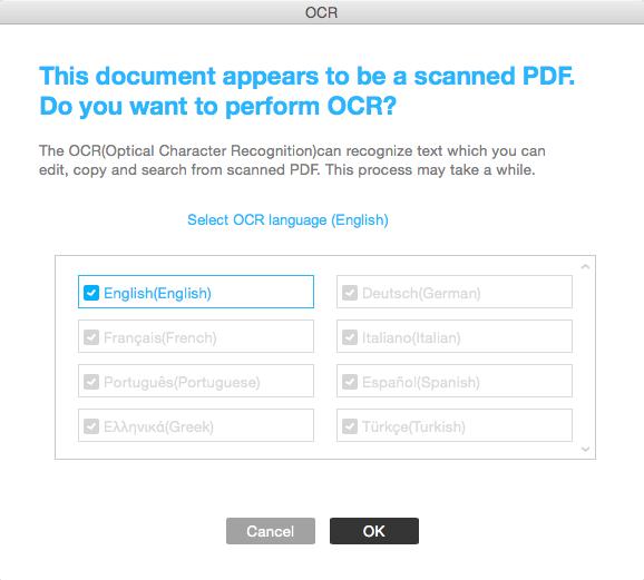 edit or convert scanned PDF on Mac OS X Yosemite