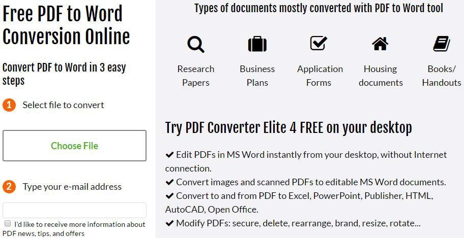 Top 23 Best Online PDF to Word Converters