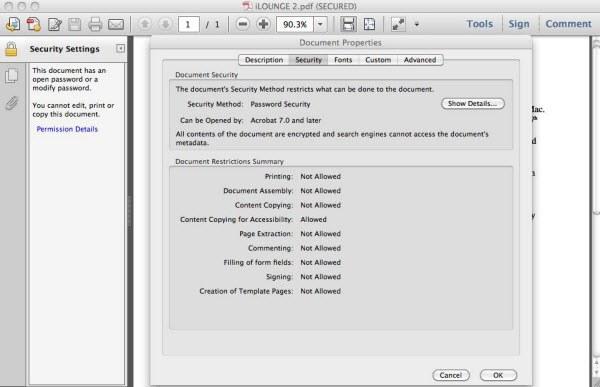 secured pdf unlock