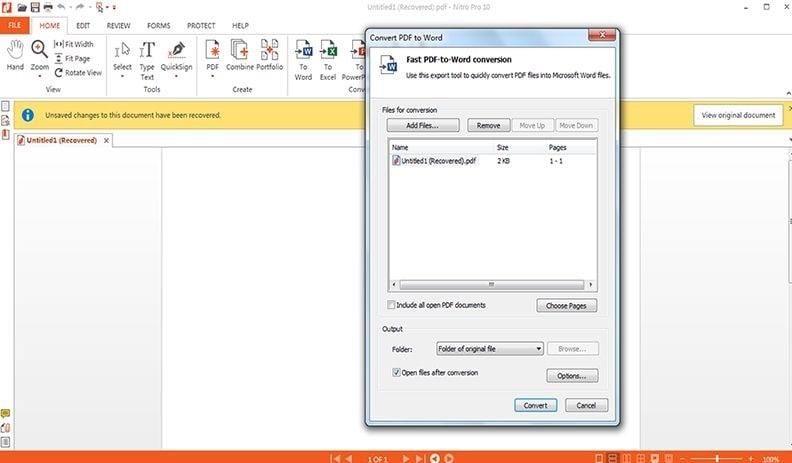 Nitro PDF Converter Not Working? Fixed!