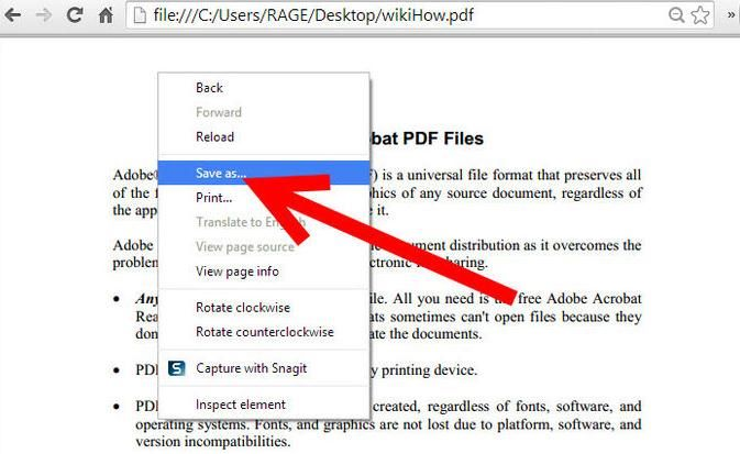 unlock secured PDF document using google chrome