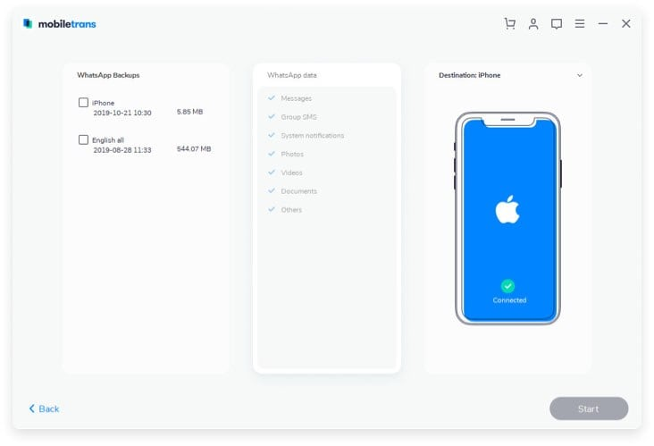 transfer data from icloud to iphone 8