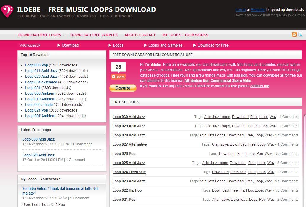 Die 11 beliebtesten Websites – Hintergrundmusik für Videos kostenlos downloaden