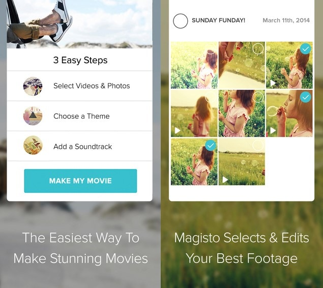 Magisto for iOS and Android