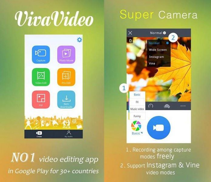 VivaVideo for iOS & Android