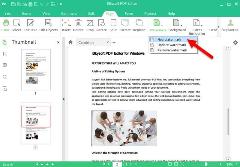 how to remove watermark from pdf iskysoft