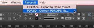 PDF2ID convert pdf to indesign cc