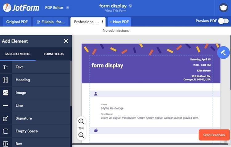 free pdf form maker