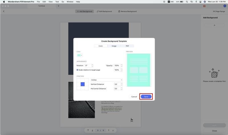 create transparent background