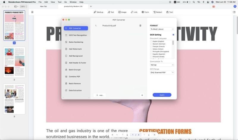 convert multiple pdfs