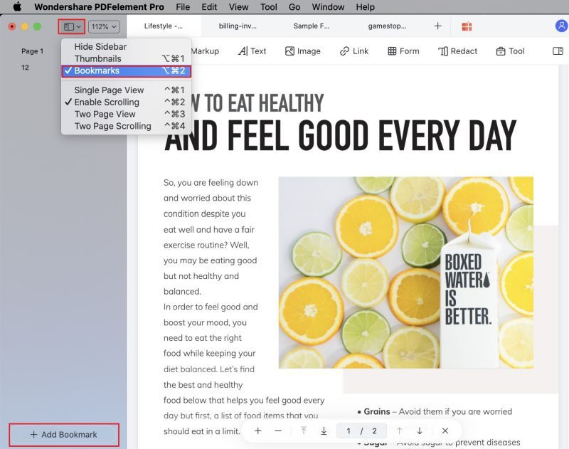 edit pdf bookmarks