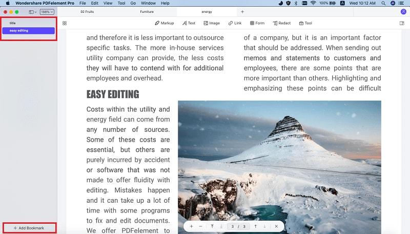 voeg bladwijzer toe aan pdf