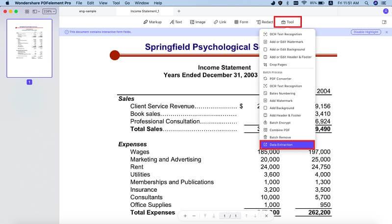 importare date nel modulo pdf