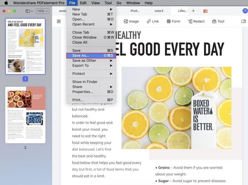 pdf-formular speichern