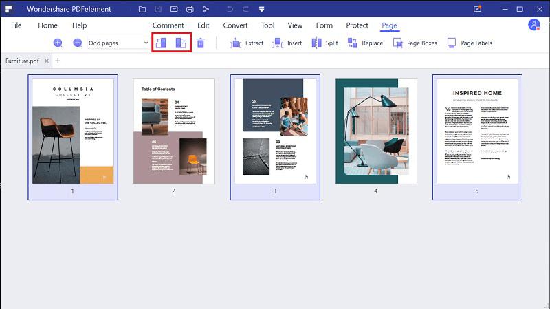 efecto de espejo en pdf