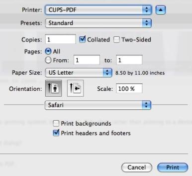 cups pdf mac