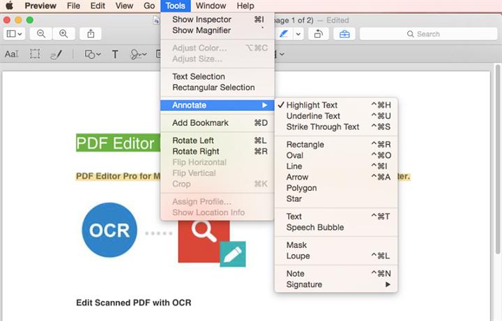 mac os x 10.11 pdf editor