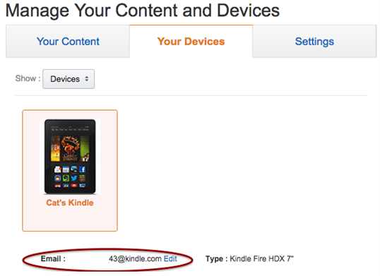 import file to kindle