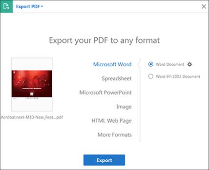 export pdf adobe