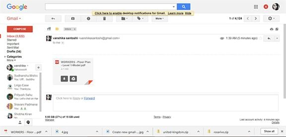 google pdf to html email