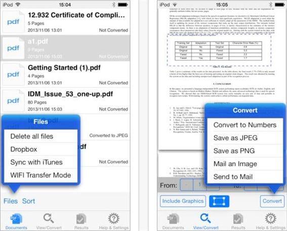 convertire pdf in numeri su ipad