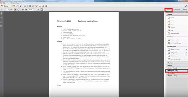 adobe pdf to text