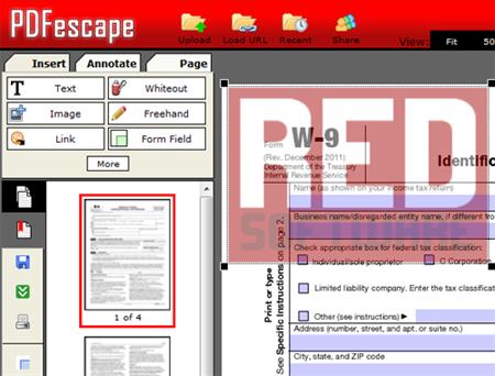 pdfescape pdf stempel
