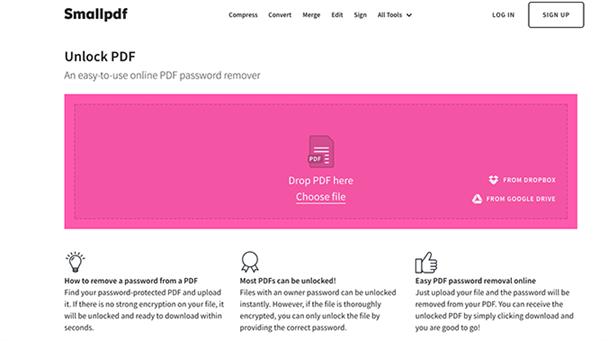 pequeño desbloqueador de pdf