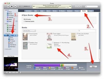 sync pdf to ibooks