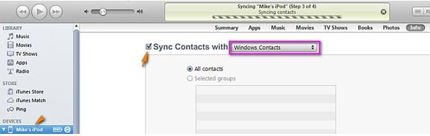 add contacts to iPhone by itunes