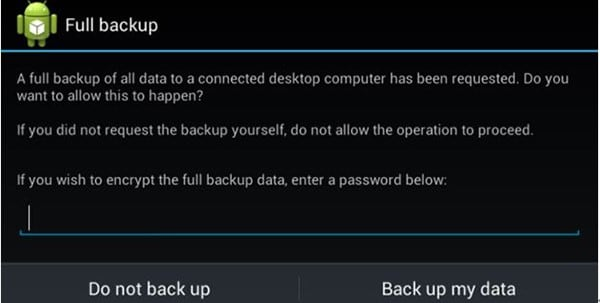 backup Android with backup manager