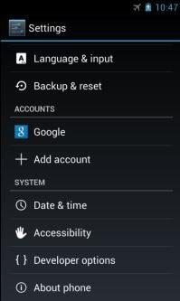press Backup and reset