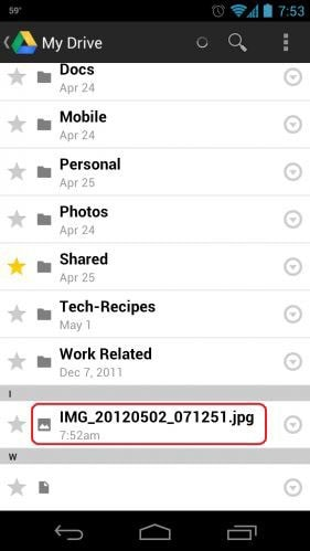 auto backup android