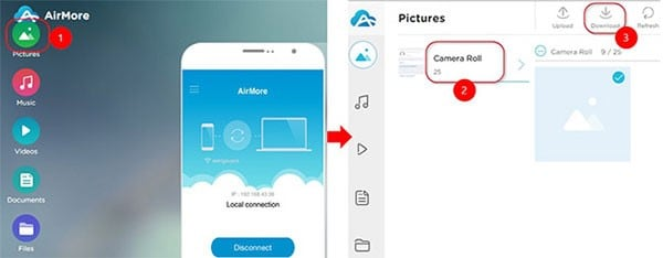 iphone data backup with airmore