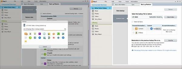 backup Samsung Android with Kies