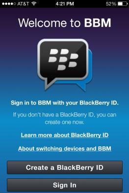 bbm voor iPhone