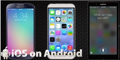 change Android to iOS