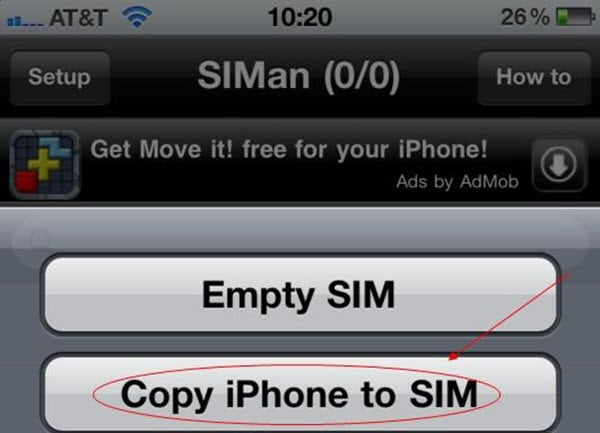 how to download phone numbers from sim card to iphone