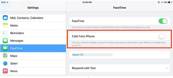 turn off calls from iPhone
