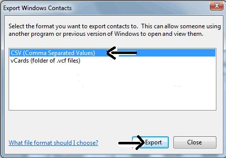 export iphone contacts to files