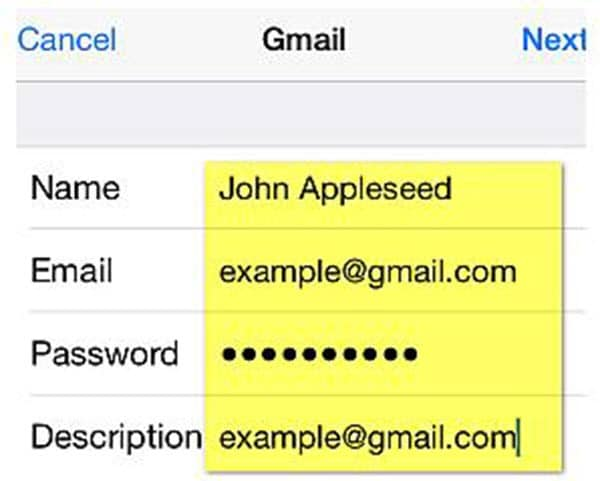how to add contacts to gmail on iphone