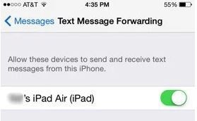 get imessage from iPhone to iPad