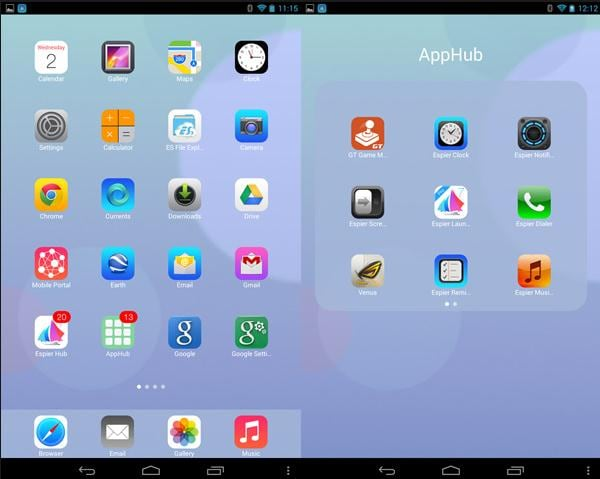 how to install iphone themes on android