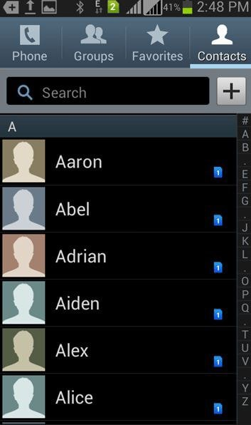 how to delete contacts on a samsung phone