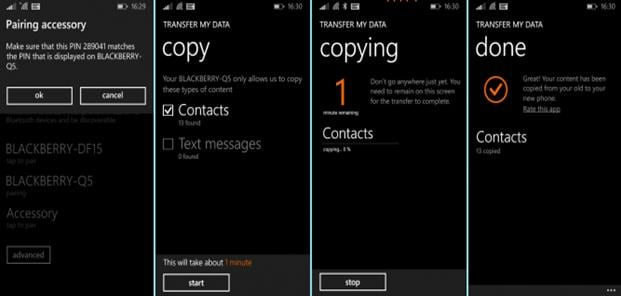 transfer windows phone contacts to iphone