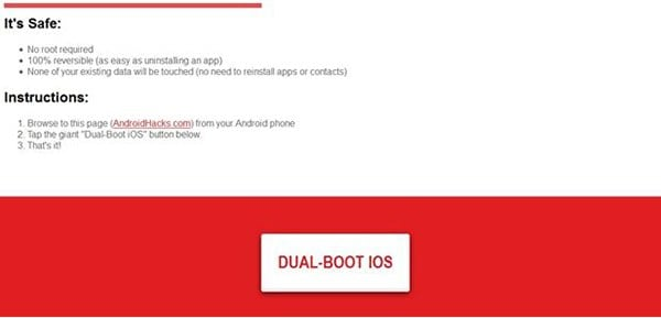 install iOS for Android