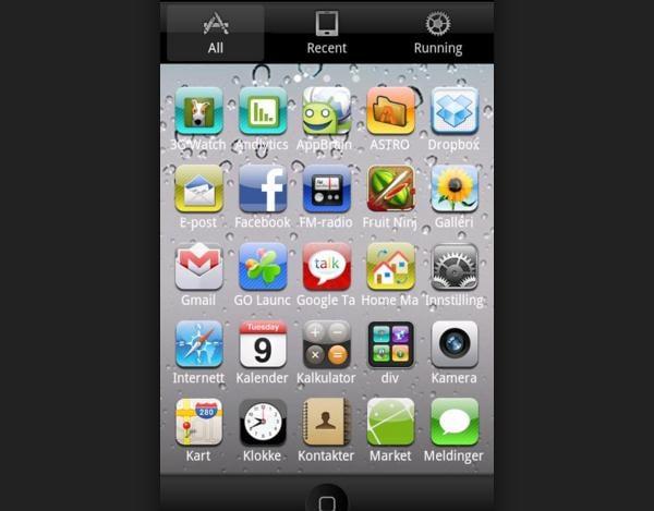 iPhone 3.0 Go Launcher Theme