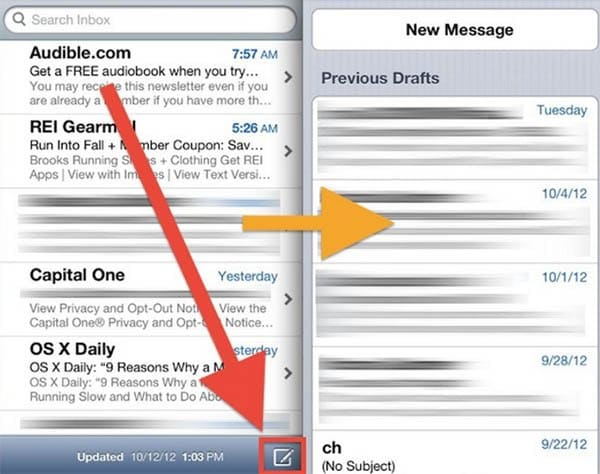 Access Email Drafts