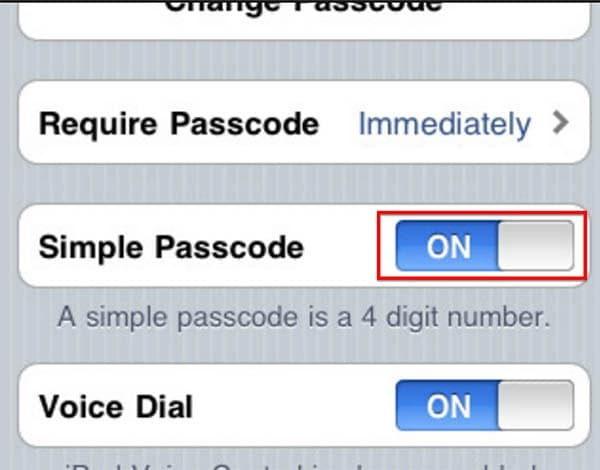 Create a Passcode with Letters